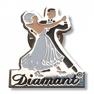 Pin-brosch Dansande Par Diamant