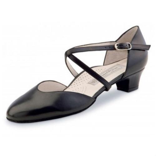 Felice 3,4cm svart läder Werner Kern Dansskor